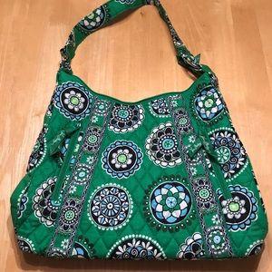 Vera Bradley Hobo Shoulder Bag Cupcake Green